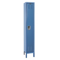 "Hallowell ReadyBuilt Locker, 12""W x 15""D x 78""H, 707 Marine Blue, Single Tier, 1-Wide"