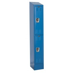 "Hallowell ReadyBuilt II Locker, 12""W x 18""D x 84""H, 707 Marine Blue, Double Tier, 1-Wide"