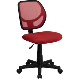 Mid-Back Task Chair and Computer Chair - Red Mesh