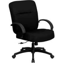 Signature Series 400 lb. Capacity Big & Tall Black Fabric Office Chair with Arms and Extra WIDE Seat