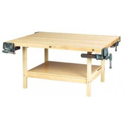 4-Station Workbench, With Vises or Without