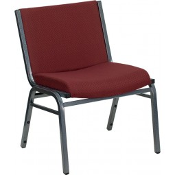Signature Series 1000 lb. Capacity Big and Tall Extra Wide Fabric Stack Chair - 2 Seat Options