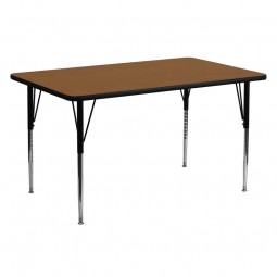 24''W x 60''L Rectangular Activity Table - 4 Colors Available