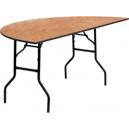 Half-Round Wood Folding Banquet Tables - 3 Sizes Available