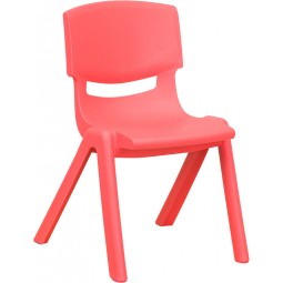 Plastic Stackable School Chair with 12'' Seat Height - 3 Seat Options