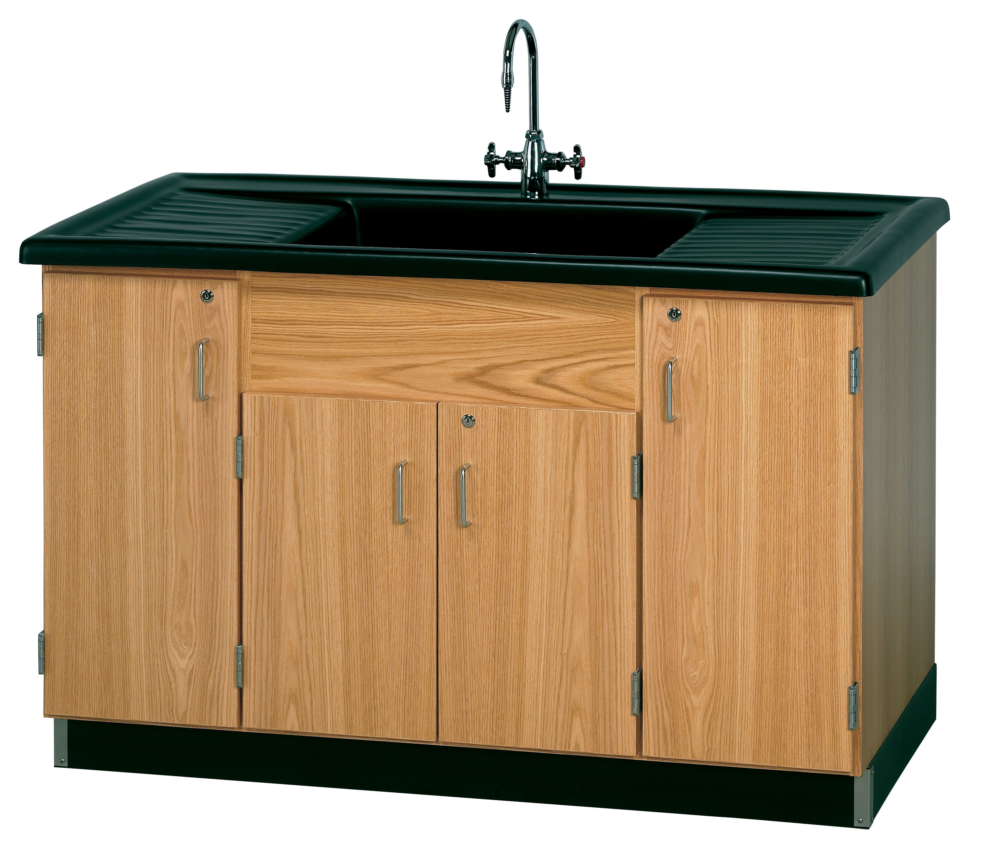 Very Impressive portraiture of UV Finish Solid Oak Wood Clean Up Sink with Epoxy Resin Top 55½ W x  with #A0692B color and 3272x2788 pixels