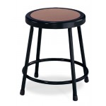 """NPS Black Lab Stool with Round Hardboard Seat - 18"""" Fixed Height - 6218-10"""