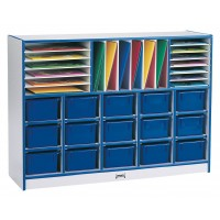 Jonti-Craft Rainbow Accents Sectional Cubbie-Tray Mobile Unit - With or Without Colored Trays