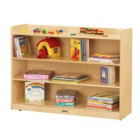 Jonti-Craft 0782JC Adjustable Mobile Straight-Shelf with Lip