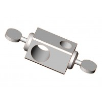 "Rod Clamp with 2 Thumbscrews, ¾"" x ½"" Holding Size, 3"" Width, For Crossbar"