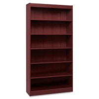 Lorell Panel Bookcase, Mahogany - Multiple options