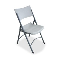Lorell Folding Chair - Platinum - Purchase in quantities of 4