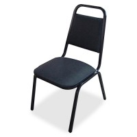 Lorell Stacking Chair -Black - Purchase in quantities of 4