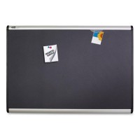 Quartet Alum Frame Magnetic Fabric Bulletin Boards - Multiple options