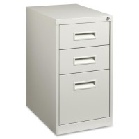Lorell Mobile Pedestal, Box/Box/File Pedestal, Recessed Pull, Light Gray - Multiple options
