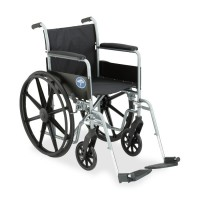 Medline Excel K1 Basic Full Length Permanant Arm Wheel Chair