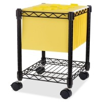 Lorell Compact Mobile Cart, Black