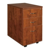 Lorell Mobile Pedestal, Box/Box/File, Cherry