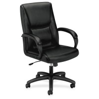 Basyx VL161 Series Executive Leather MidBack Chair