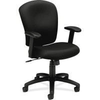 Basyx VL220 Adjustable Arms High-back Task Chair, Black