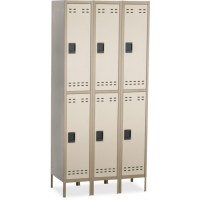 Safco Double Tier Locker, 3Wide with Legs - Various Colors