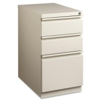 "Lorell Mobile Pedestal Files, Box/Box/File Pedestal, 15"" x 22⅞"" x 27¾"", Putty - Multiple options"