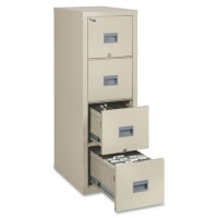 FireKing Patriot Series Fire Proof 4 Drawer Vertical File - Black or Parchment