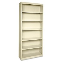 Lorell Steel Bookcase, Putty - Multiple options