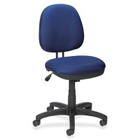 Lorell Task Chair, Tilt/Tension, Blue