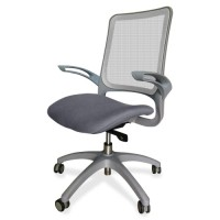 "Lorell Self-Adjustable Task Chair, 24⅖"" x 22⅖"" x 41"", Mesh/Gray"