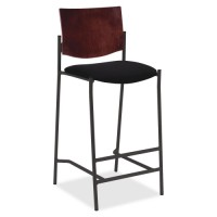 Lorell Wood Back Barstool, Steel Frame - Multiple options