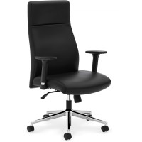 basyx by HON VL108 High-Back Chair - Black Leather
