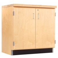 Solid Oak or Maple Wood Base Cabinet, Top and Base Molding NOT Included