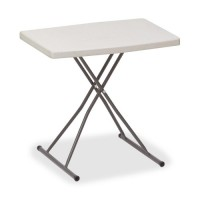 Iceberg Personal Table, Adjusts, 25 lb. Capacity, Platinum