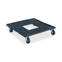"""Safco Stacking Chair Cart,with 3"""" Casters, 23⅛"""" x 23⅛"""" x 4½"""", Black"""