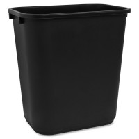 Sparco Rectangular Wastebasket 7 Gallon Capacity - Pack of 24