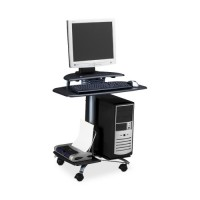 "Mayline Mobile PC Workstation, 28½"" x 26"" x 29½"", Anthracite"
