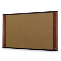 3M Standard Cork Bulletin Boards, Mahogany - Multiple Sizes