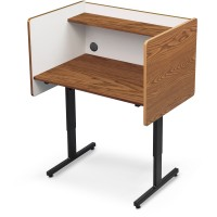 Balt Study Carrel - Oak or Gray