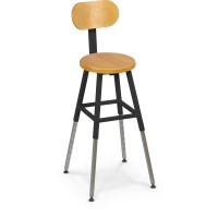 Balt Lab Stool and Back - Black or Gray Frame