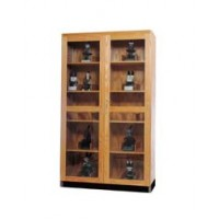 Natural Transparent Finish Solid Oak Wood Glass Microscope Storage Case - 3 Sizes