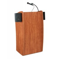 Oklahoma Sound Vision Lectern with Sound (NO SCREEN) - Cherry - Includes 2 Mics