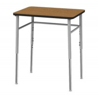 "Artcobell Uniflex 7SD4A6 Four Leg Student Desk 20"" x 26"" - Laminate and Solid Plastic Tops"