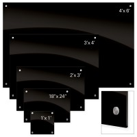 Best-Rite Black Glass Markerboards - Choose Size