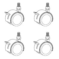 Artcobell Discover Shape Table Casters - Pack of 4 - TA-CPS4
