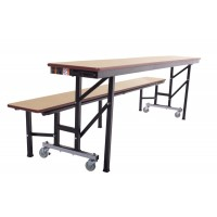 AmTab All-In-One Mobile Convertible Benches– 3 Sizes in Multiple Colors