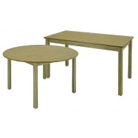 "LB Series 24""x48"" Rectangular Library Table & LB Series 36"" Round Library Table"