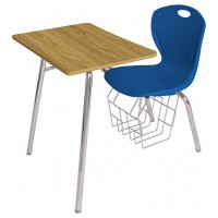 Artcobell D75 Four Leg Combination Desk – Laminate and Solid Plastic Tops