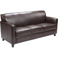 Signature Diplomat Series Brown Leather Sofa