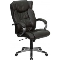 High Back Leather Executive Office Chair - 2 Seat Options